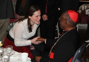 Many Christendom students were able to greet and chat with the Cardinal following his talk.