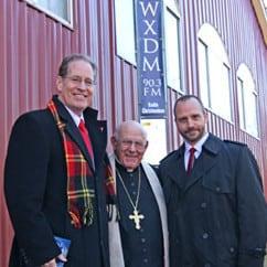 Bishop Loverde Blesses New Radio Station at Christendom College