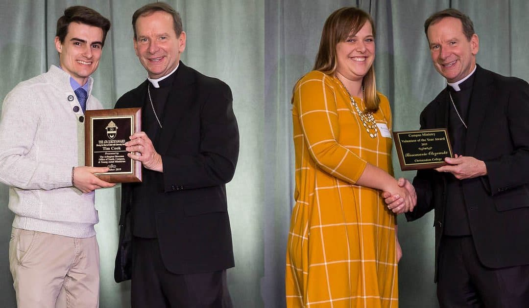 Staff and Student Receive Service Awards From Diocese of Arlington