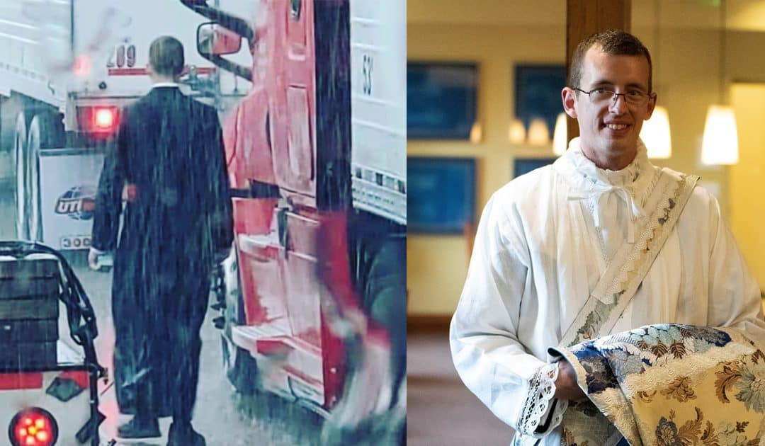 Alumnus Priest Administers Last Rites, Provides Aid to Injured at Highway Crash