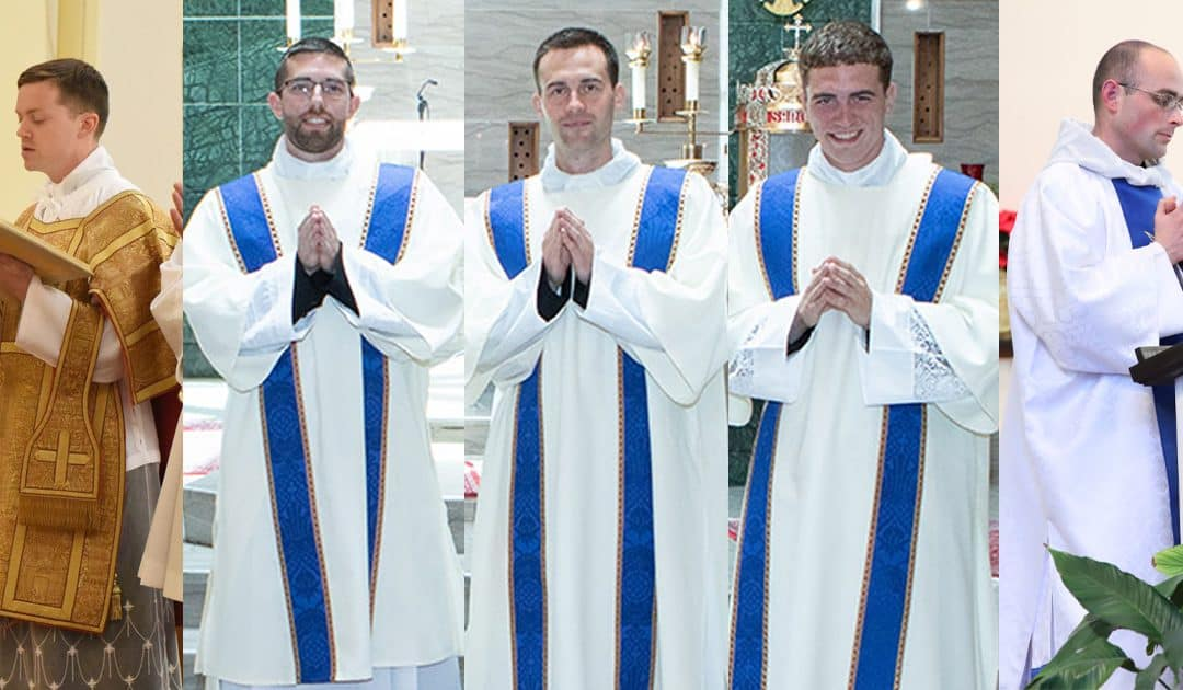 Five Christendom Alumni to be Ordained to Priesthood this Year