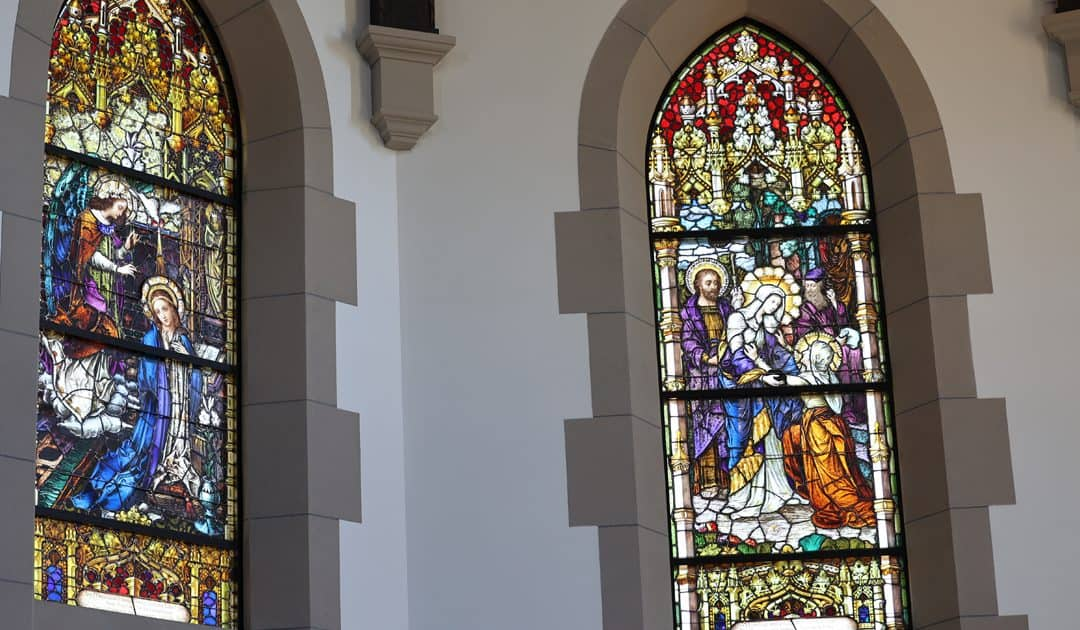 Stained-Glass Windows Installed in Christ the King Chapel