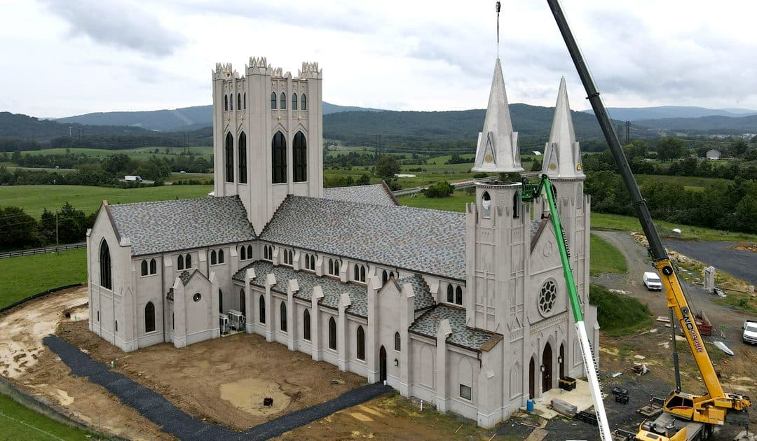 Steeples and Bells Installed for New Christ the King Chapel